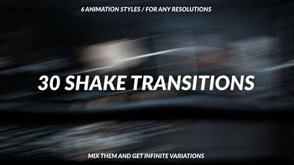 PR预设-30种摇晃过渡视频转场预设 30 Shake Transitions